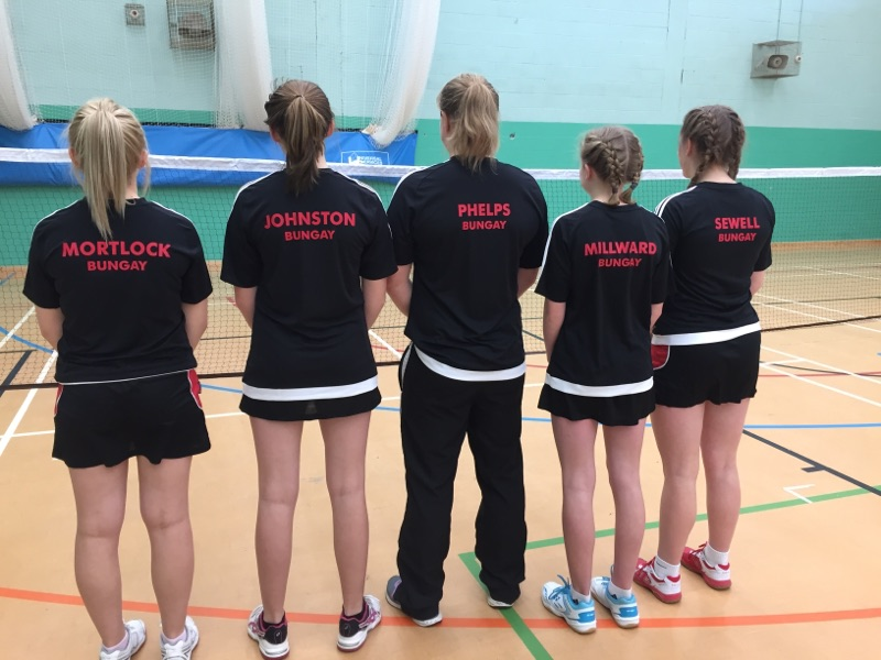 Sponsors of Bungay High School Badminton Team - Regional Finals2